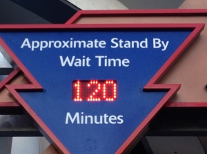 2 hour wait for Space Mountain