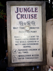 The wait time for the Jungle Cruise has a hand-written 60 minutes. The available cards only went to 50 minutes