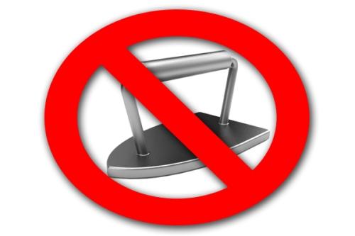 no iron