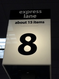 Express Lane - About 15 items
